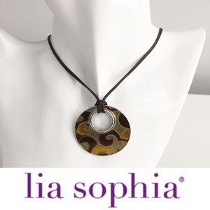 "Lia Sophia ""Amber Waves"" Reversible Necklace"